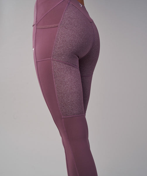 Gymshark Textured Leggings - Purple Wash 4