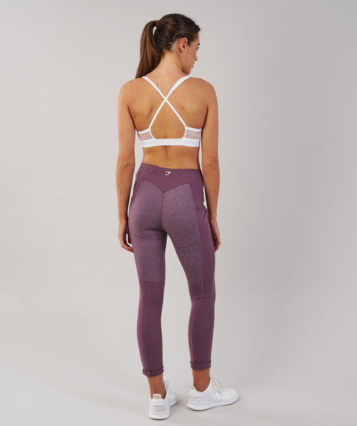 Gymshark Textured Leggings - Purple Wash 1