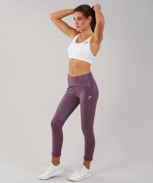 Gymshark Textured Leggings - Purple Wash 3