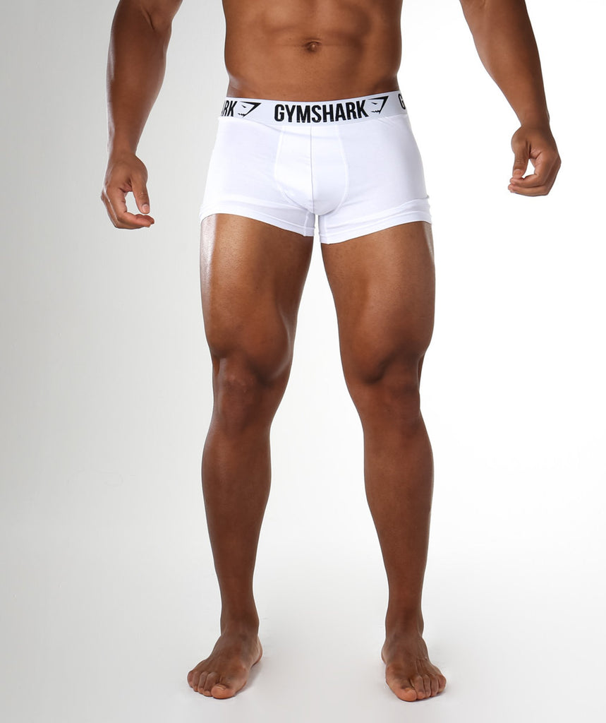 Gymshark Mens Trunks 2pk - White
