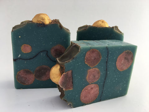 Bubbles of coffee soap