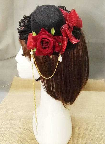 Steampunk Mini Top Hat with Flower's