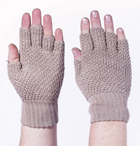 String 1/2 Finger Hunting Gloves- Eccru