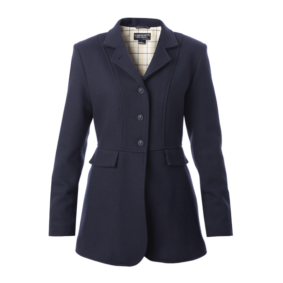 Ladies Hunt Wool Frock Coat- Navy