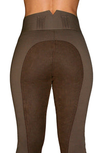 High Waisted Suede Seat Breeches- Bown