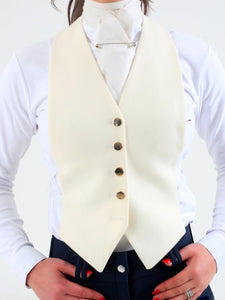 Wool False front Waistcoat - Cream