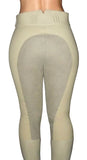 High Waisted Suede Seat Breeches - White