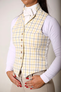 Wool Vintage Style Waistcoat - Check
