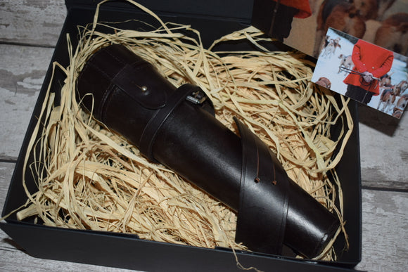 Saddle Flask Hunting Gift Box
