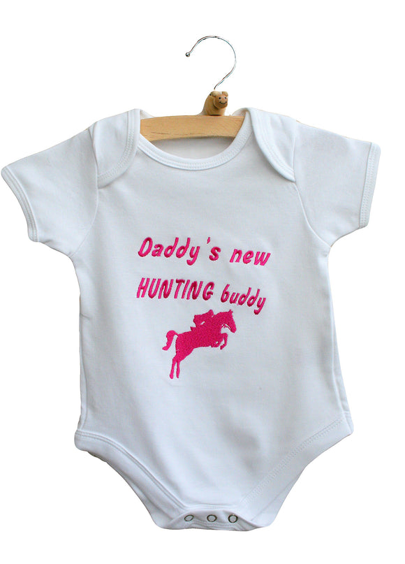 Daddy's new hunting buddy Baby Bodysuit
