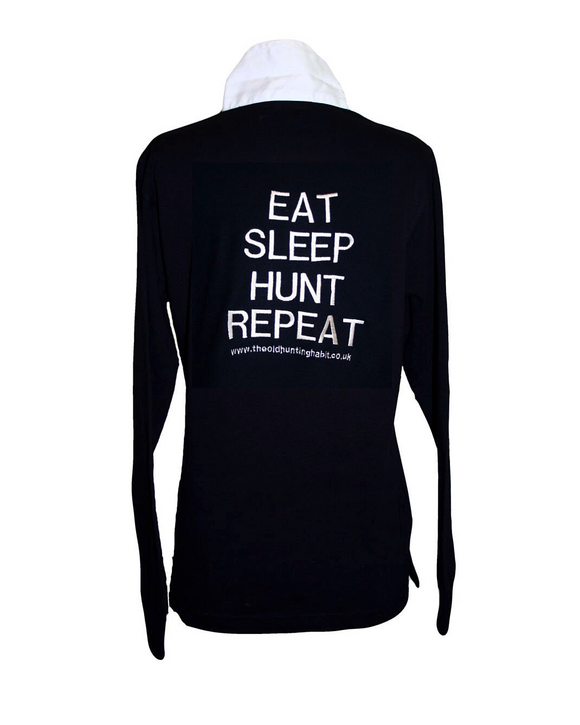 EAT SLEEP HUNT REPEAT RUGBY TOP