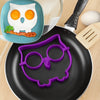 Cat, Owl & Skull Silicone Egg And Pancake Molds (1 Set)