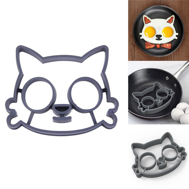 Cat Owl Skull Silicone Egg And Pancake Molds 1 Set Fanduco