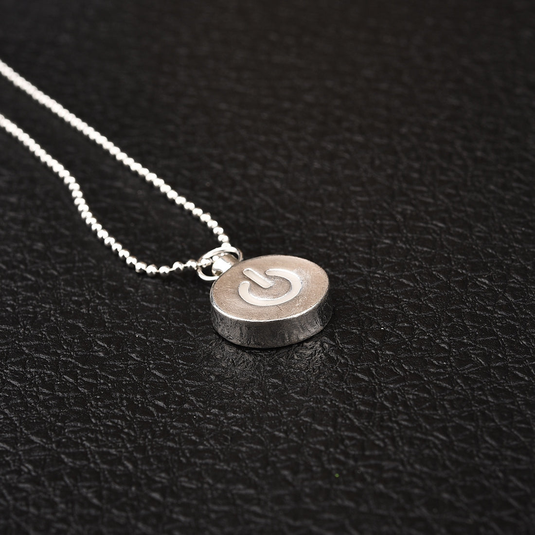 Power button glow in the dark necklace fanduco power button glow in the dark necklace mozeypictures Image collections