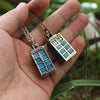 Glow In The Dark Police Box Necklace