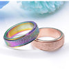 Frosted Rainbow Spinner Rings