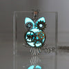 Steampunk Mechanical Owl Glow In The Dark Necklace