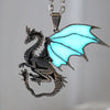 Glow In The Dark Mountain Dragon Necklace