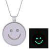 Smiley Emoticon Glow In The Dark Necklace
