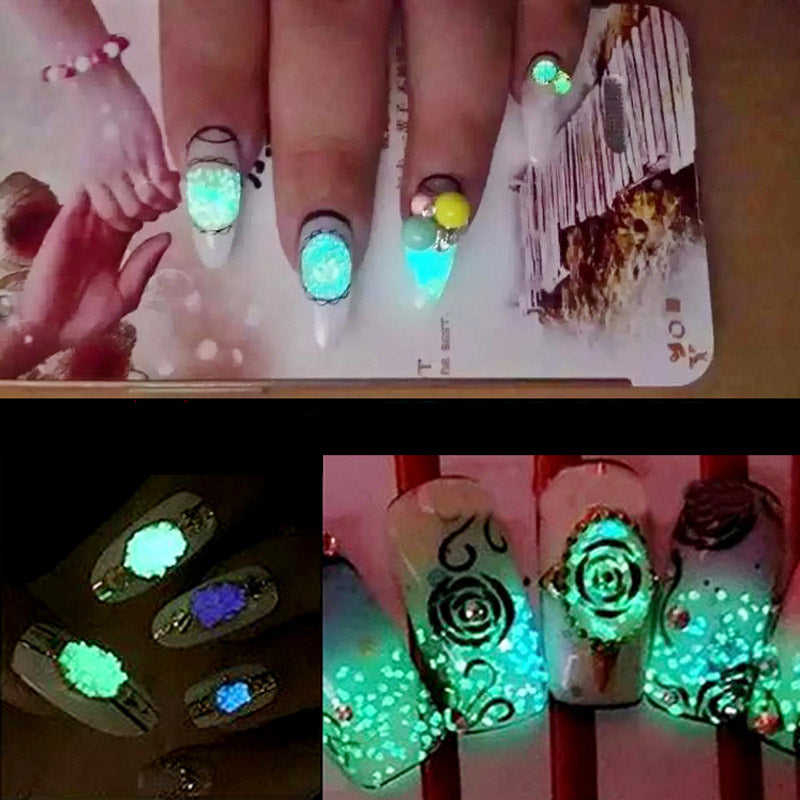 Glow In The Dark Nail Crystals Fanduco