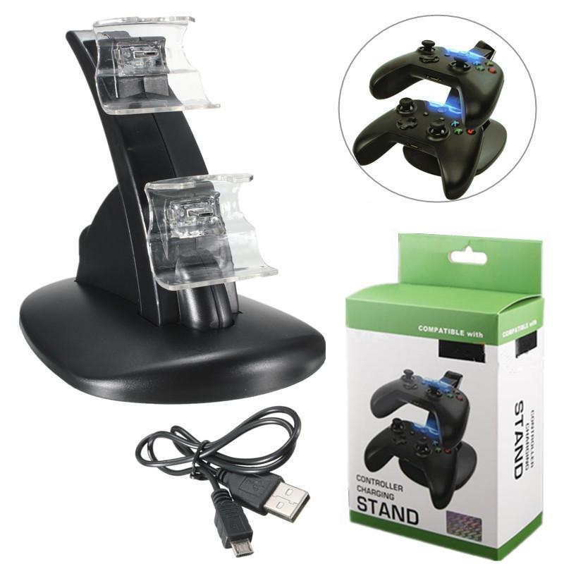 a0fdf4beaac Fanduco Charger Dual USB Charging Dock for Xbox One Controllers
