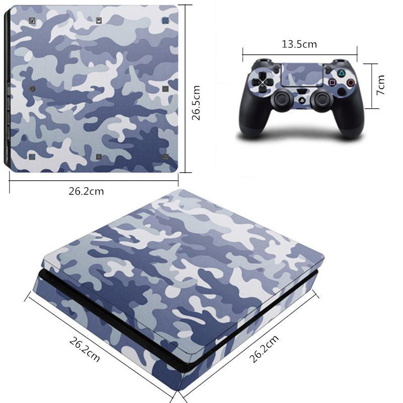 Just Ps4 Slim Sticker Console Decal Playstation 4 Controller Vinyl Skin Earth A Wide Selection Of Colours And Designs Video Game Accessories