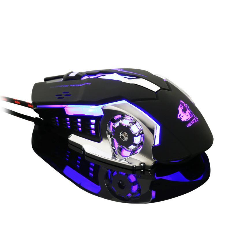 e9125564bfc Freewolf 4000DPI Optical Gaming Mouse with Avago A3050 Gaming Sensor