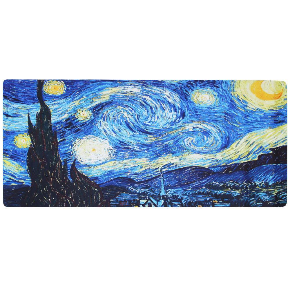 Van Gogh s The Starry Night Giant Mouse Mat Fanduco