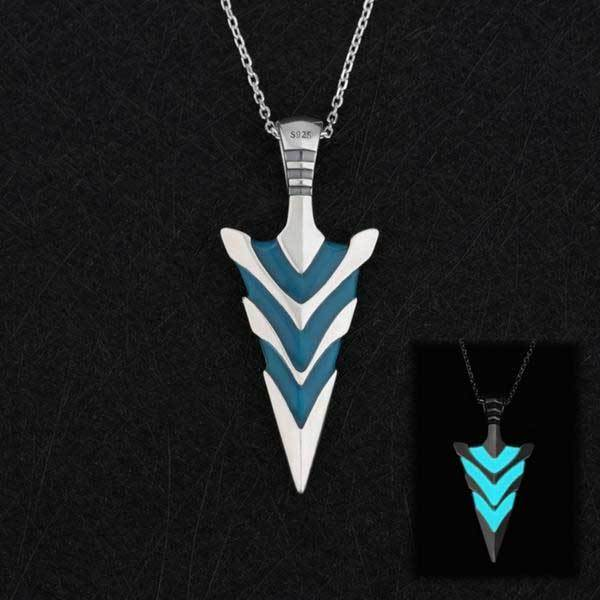 c0563f2bc98942 Fanduco Necklaces Arrowhead Glow In The Dark Sterling Silver Necklace