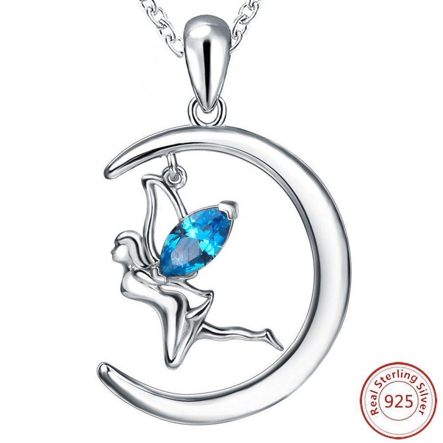669c5d22531 Fanduco Necklaces Dancing Faerie Sterling Silver Necklace