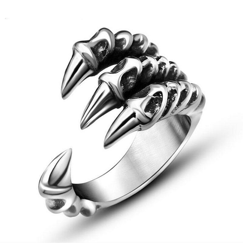 eaba356bd4c Fanduco Rings 7 / Stainless Steel Dragon Claw Ring