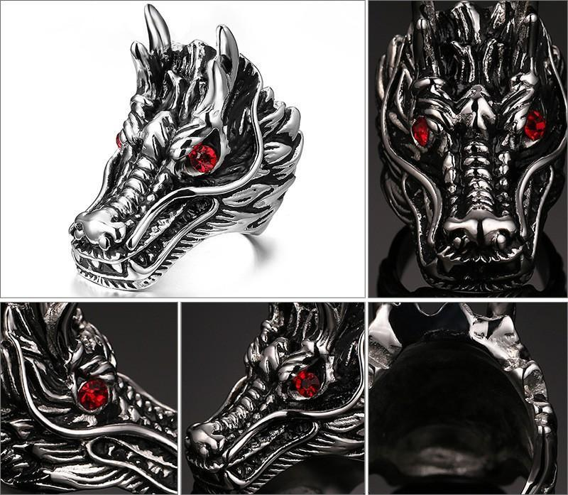 94dd5371353 Fanduco Rings Dragon Head Ring