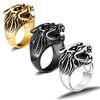 Fanduco Rings Steel Wolf's Head Ring