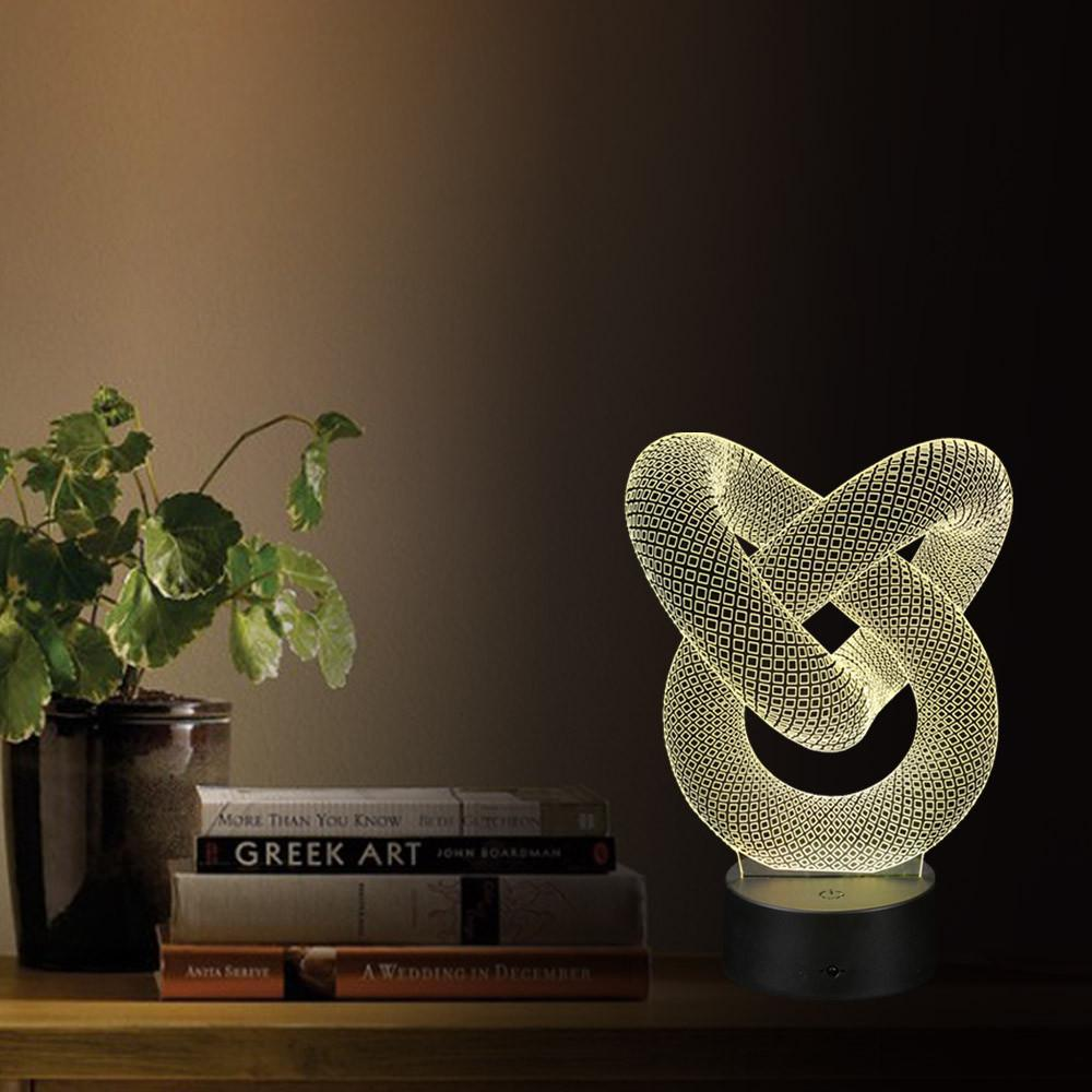Infinity Holographic Lamp