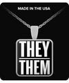 They/Them Prounoun pendant