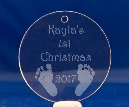 First Christmas Personalized Acrylic Orniment