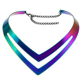 Metal Chevron Necklace Available in 3 Colors