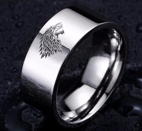 Game of Thrones Ice Wolf House Stark of Winterfell  Ring