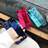 Plush Hand Strap Phone Case for iPhone in 3 Colors