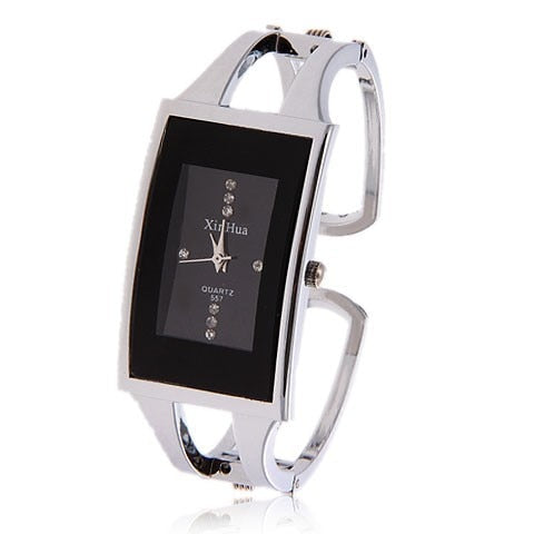 Bracelet Watch Available with Black or White Face