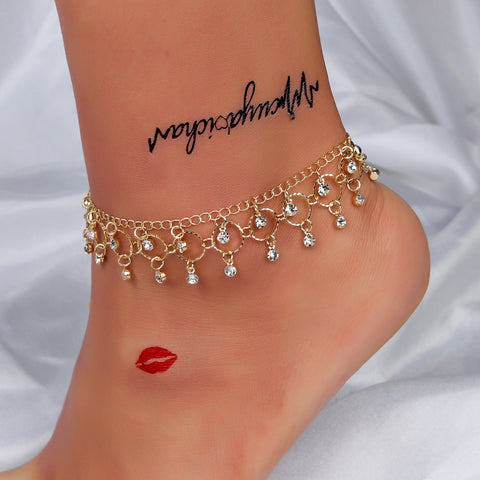 Dripping With Jewels Ankle Bracelet in 2 Colors