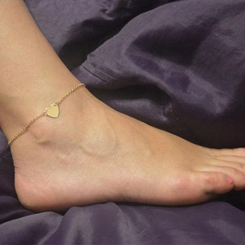 Tiny Heart Anklets