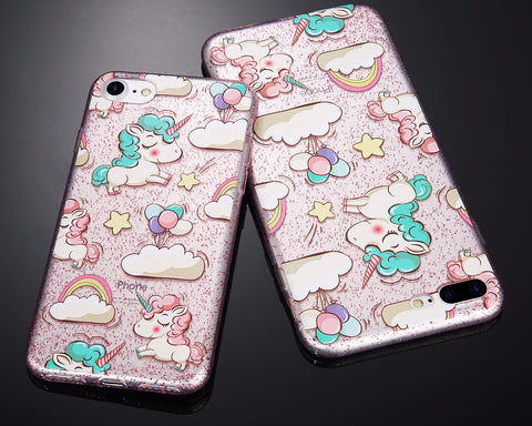 Unicorn Glitter Soft Phone Case
