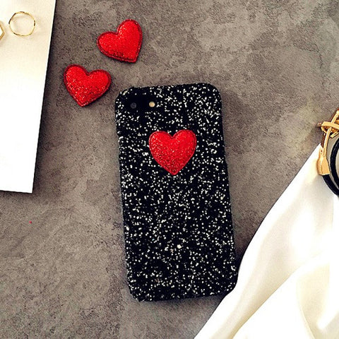 Glitter Love Hard Phone Case