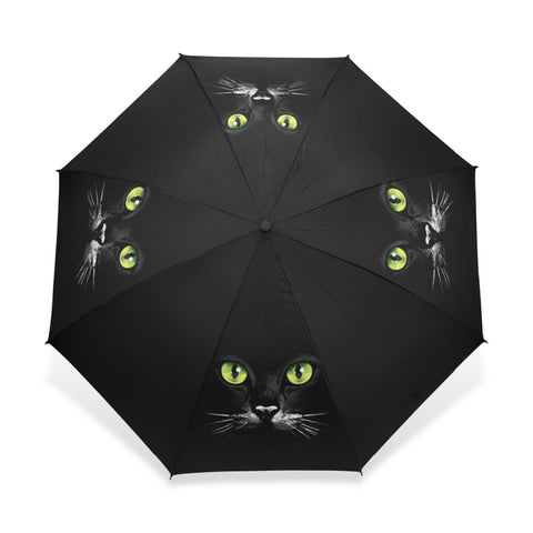 Black Cat Wind Resistant Ultra Light Umbrella