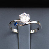 Blue Accent Promise Ring