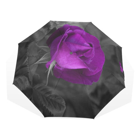 Color Pop Purple Rose Umbrella