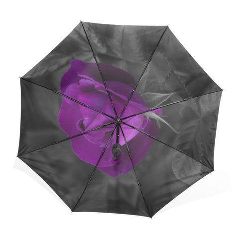 Single Purple Rose Umbrella