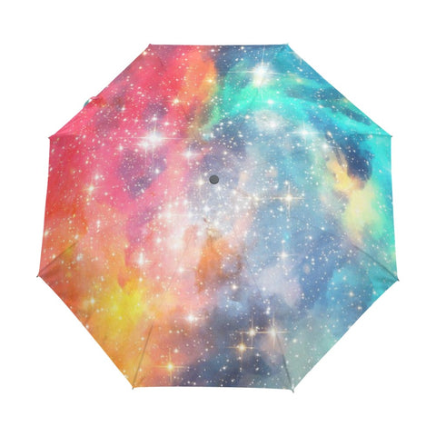 Colorful Starry Nebula Umbrella