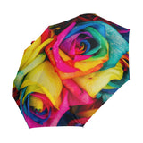 Rainbow Roses Wind Resistant Umbrella